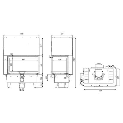 Kominek wkład kominkowy Defro Home Prima ME BP G 13 kW PRIMA-ME-BP-G 13kW Defro Kominki i wkłady 9 139,99 zł