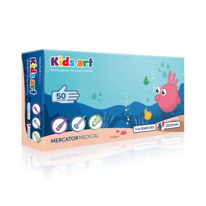 Rękawice ochronne dla dzieci 5-12 lat Rozmiar XS Kids Art - 50 szt.