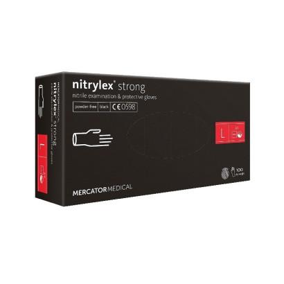 Rękawice nitrylowe BLACK STRONG rozmiar L RD30237004 Mercator Medical Rękawiczki ochronne 89,99 zł